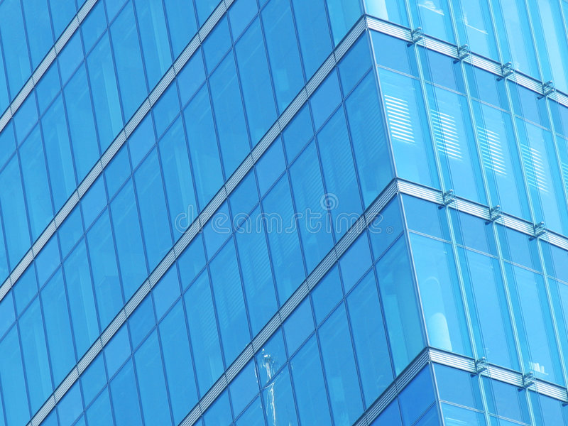 Blue building glass facade royalty free stock image