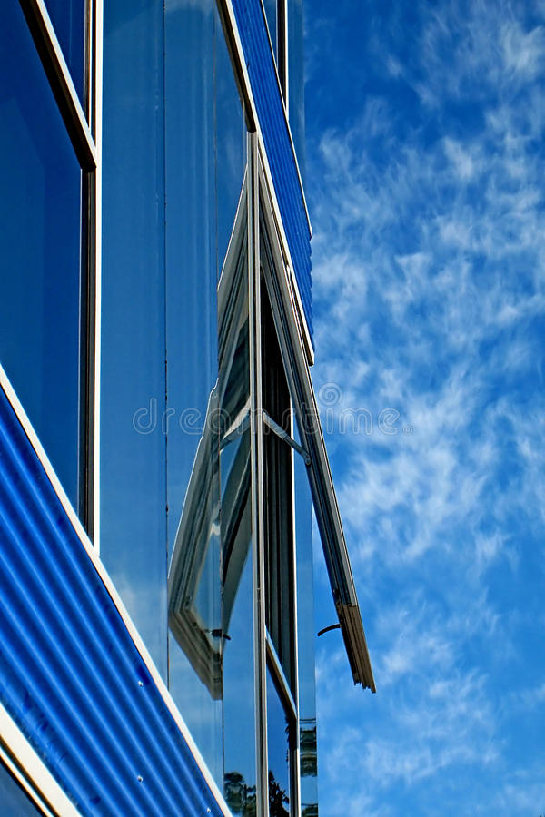 Download Blue building stock photo. Image of detail, form, blue - 39514086