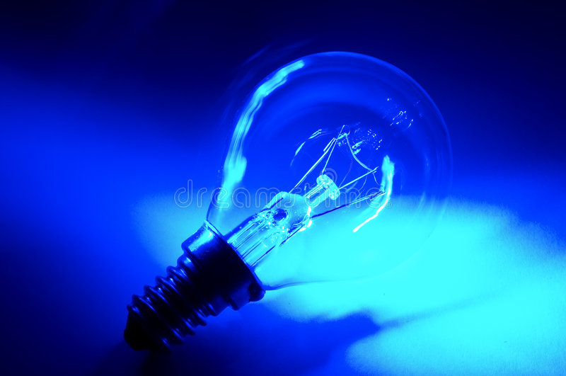 Blue bulb stock photo