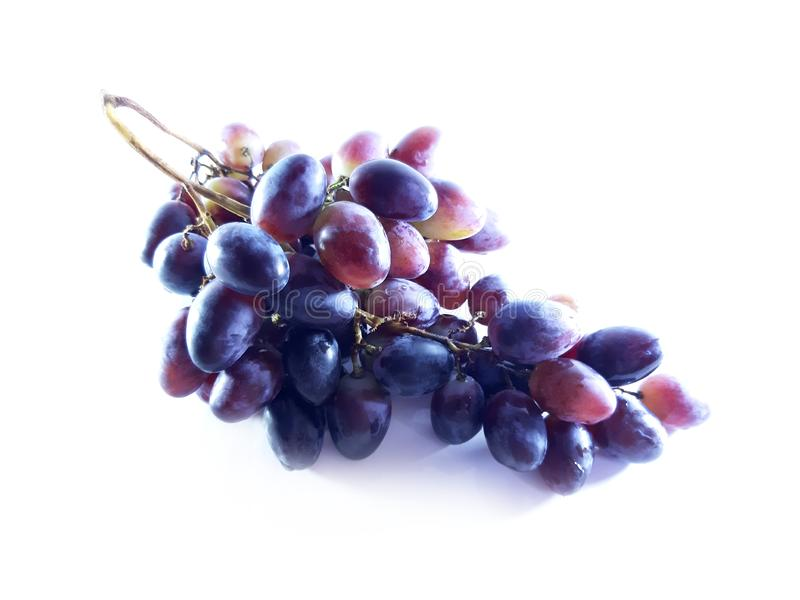 Blue bunch of grapes. Harvest. Ripe berries. Dessert. Color photo stock photo