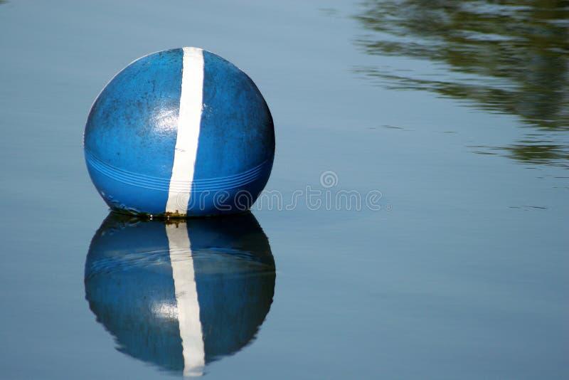 Blue buoy. Central Florida Lake royalty free stock photos