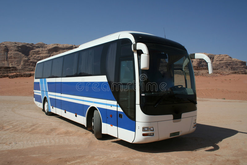Blue bus stock images