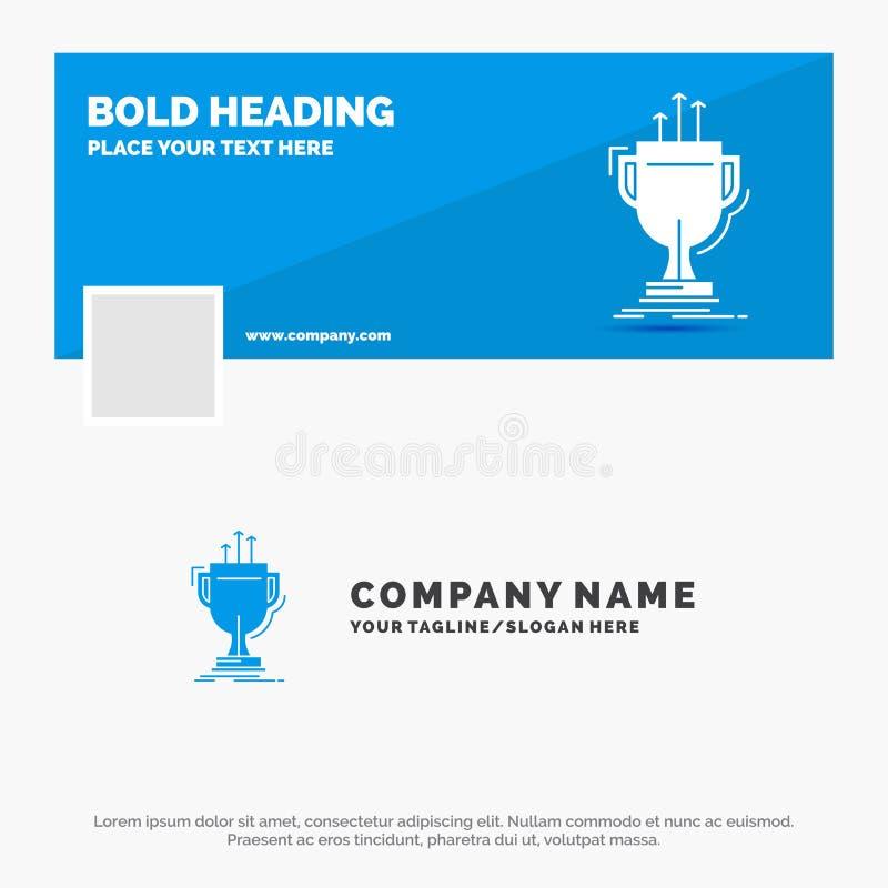 Blue Business Logo Template for award, competitive, cup, edge, prize. Facebook Timeline Banner Design. vector web banner. Background illustration. Vector EPS10 stock illustration