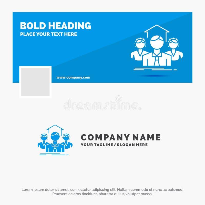 Blue Business Logo Template for Team, Business, teamwork, group, meeting. Facebook Timeline Banner Design. vector web banner vector illustration