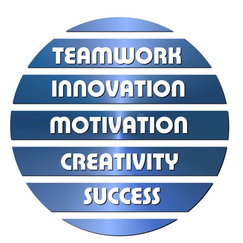 Download Blue Business Motivation Slogans Stock Illustration - Image: 11033734