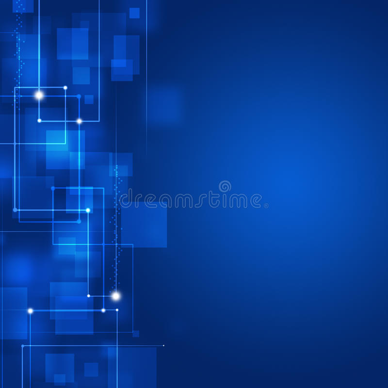 Blue Business Square Shapes Background
