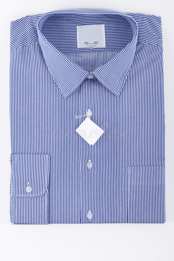 Blue Business Striped Shirt Royalty Free Stock Photos