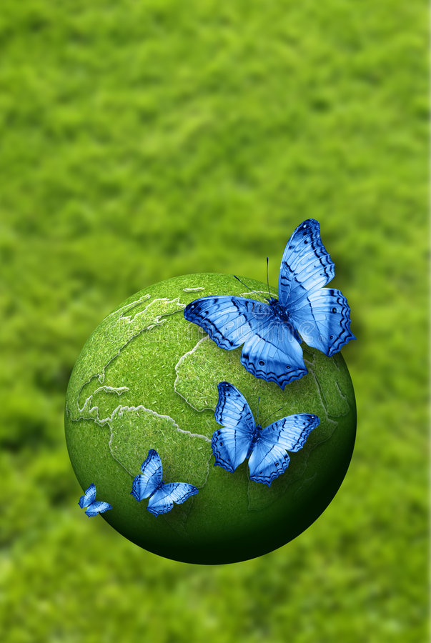 Download Blue butterflies stock image. Image of environment, green - 9076787