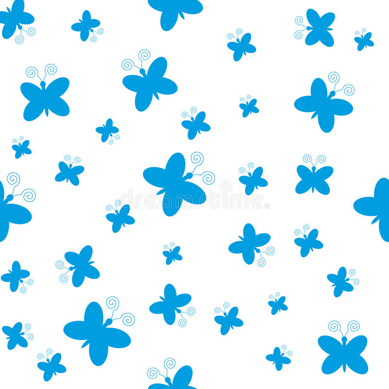 Download Blue Butterflies On White Background Stock Vector - Image: 83720946