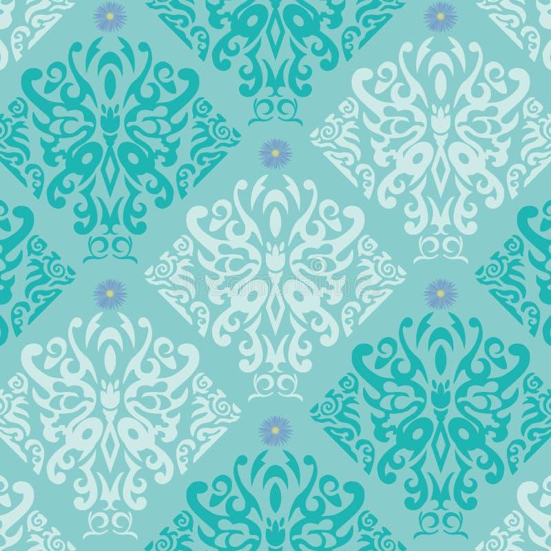 Blue Butterfly Wallpaper vector illustration