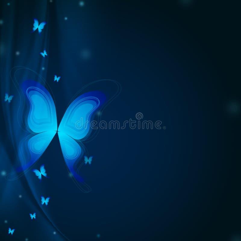 Blue butterflys vector illustration
