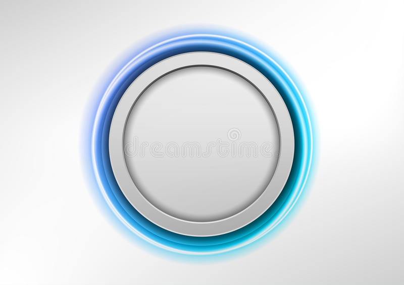Download Blue button stock vector. Image of abstract, button, color - 32010657