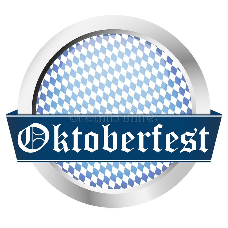 blue button Oktoberfest stock illustration