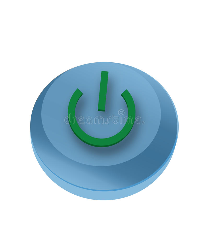 Blue button with the symbol royalty free stock images