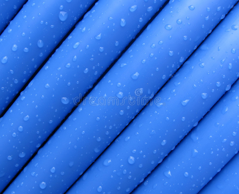 Blue cable stock image
