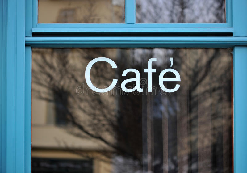 Download Blue Cafeteria stock image. Image of design, area, french - 12944035