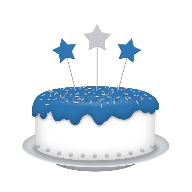 Download Blue Cake stock illustration. Illustration of event, fathers - 31602675
