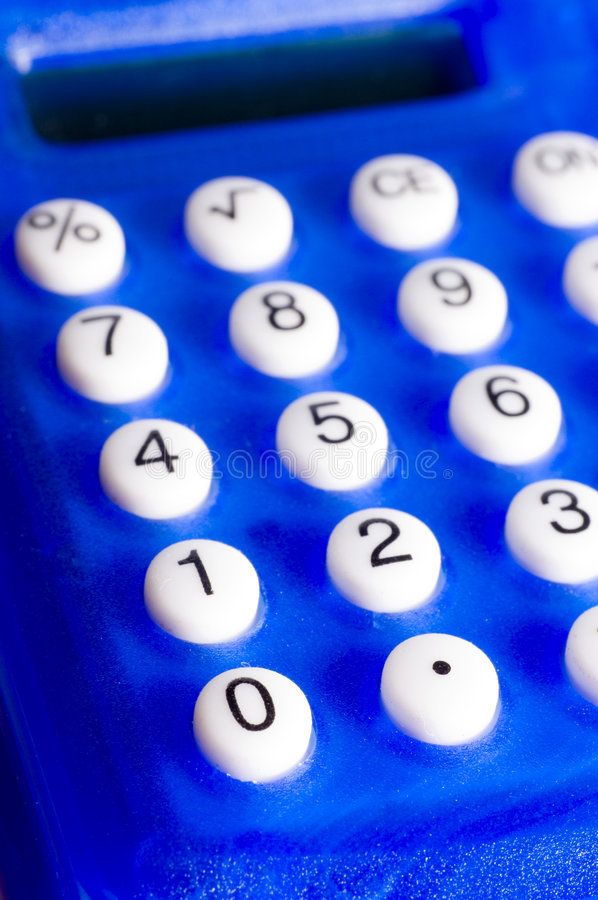Blue calculator royalty free stock image