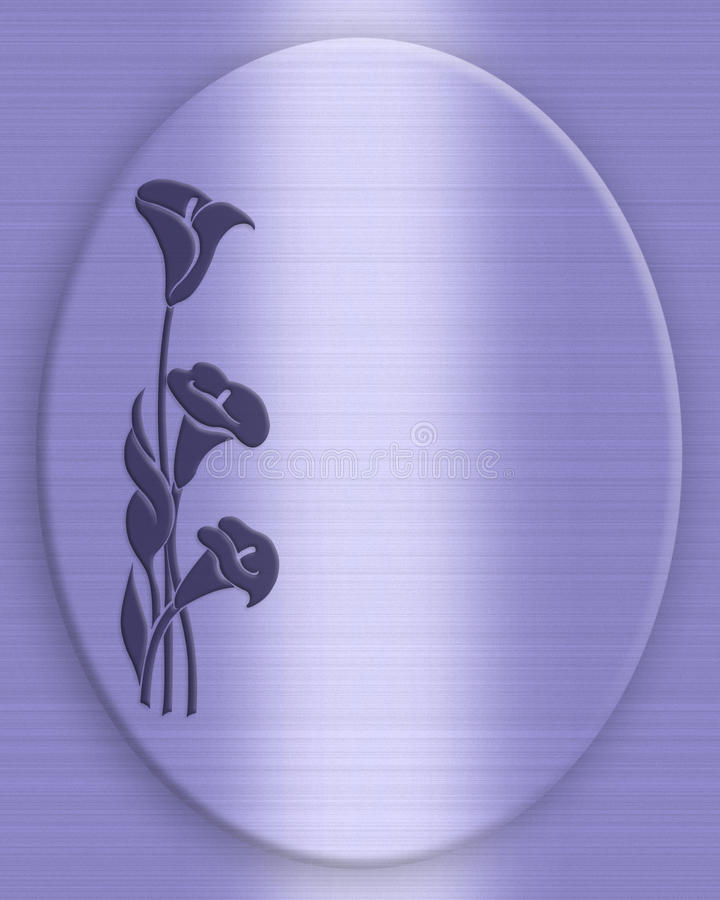 Download Blue Calla Lilies Background Stock Illustration - Image: 21647100