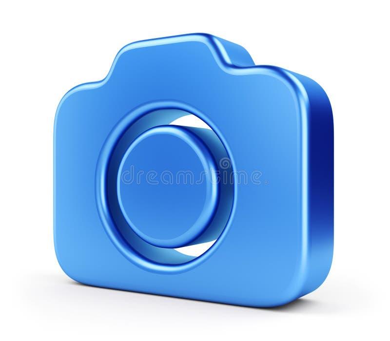 Blue camera icon royalty free illustration