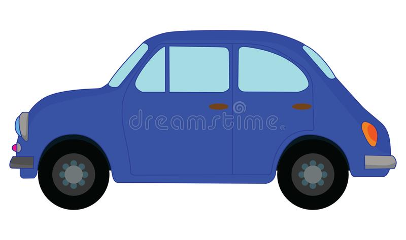 Blue car. The blue car illustration on a white background vector illustration
