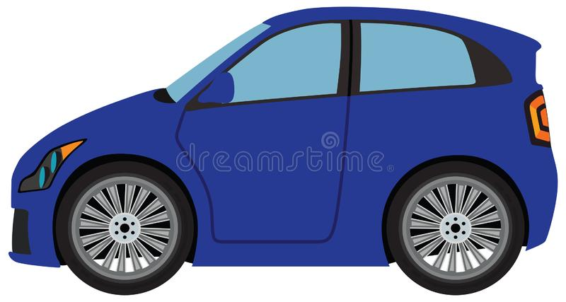 Blue Car. The blue car illustration on a white background royalty free illustration