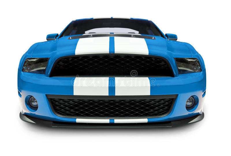 blue car muscle στοκ φωτογραφία με δικαίωμα ελεύθερης χρήσης