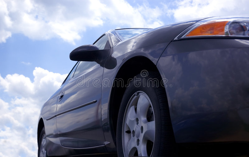 Download Blue Car and Sky stock image. Image of vehicle, hybrid - 152663