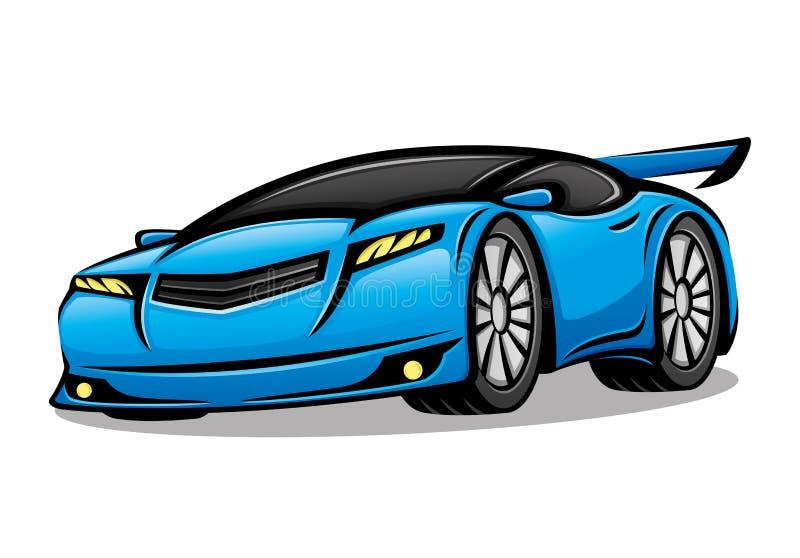 blue car sports απεικόνιση αποθεμάτων