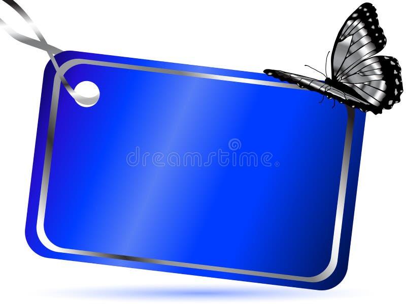 Download Blue card stock vector. Image of label, illustration - 22415968
