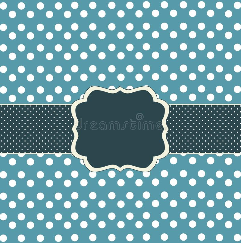 Download Blue card with dots stock vector. Image of circle, invitation - 16726487