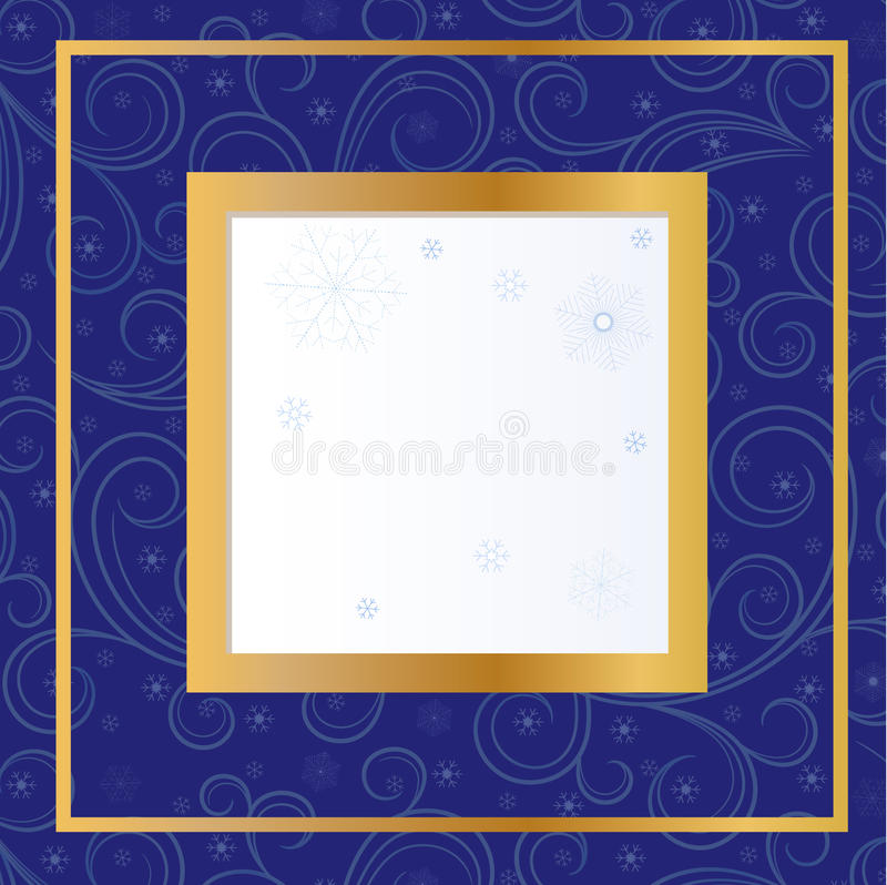 Download Blue card  with snowflakes stock vector. Illustration of illustration - 27616664