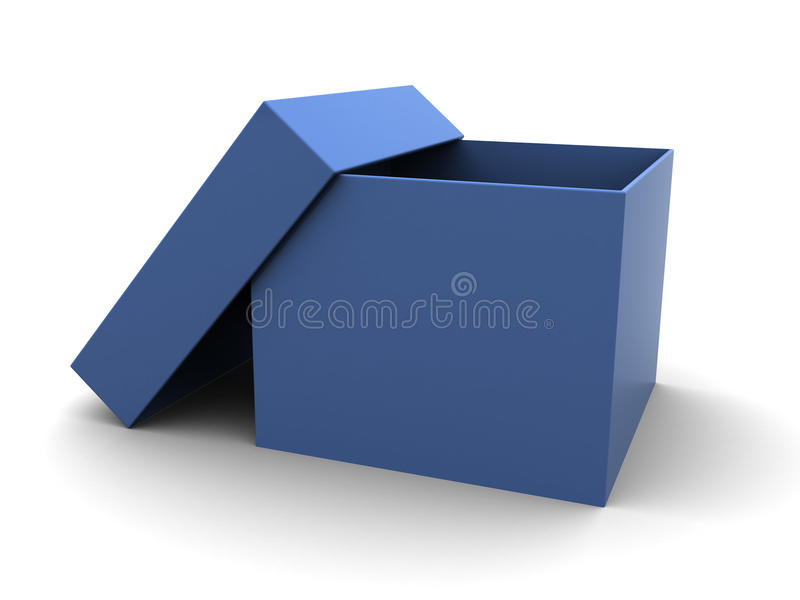 Blue cardboard box stock illustration