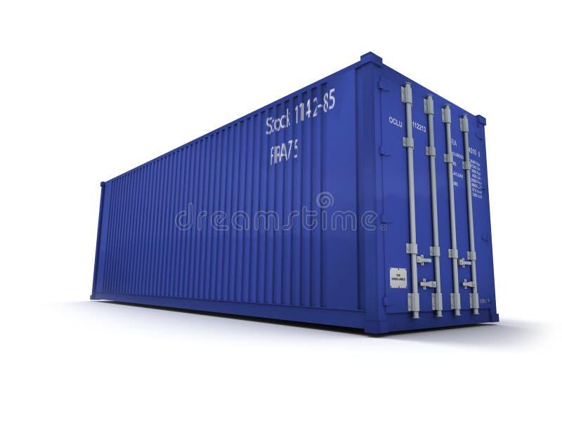 Blue cargo container royalty free stock photos