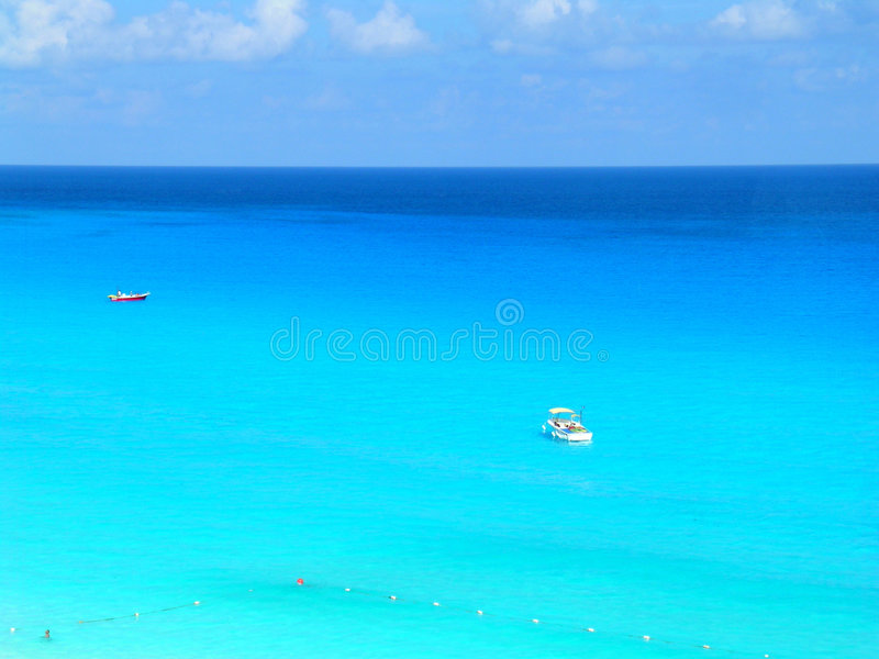Blue Caribbean royalty free stock photo