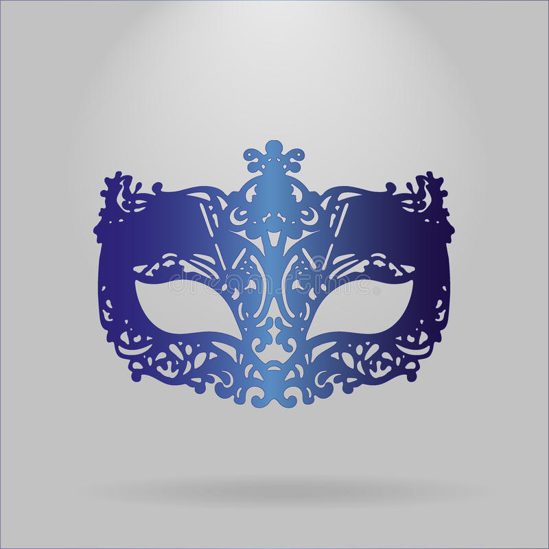 Blue Carnival Mask royalty free stock photography