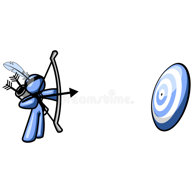 Download Blue Cartoon Archer And Target Stock Vector - Image: 3306979