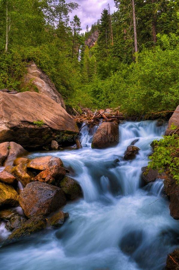 Blue Cascade royalty free stock photography