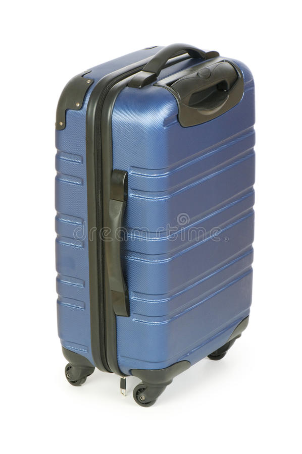 Blue case isolated nd stock image
