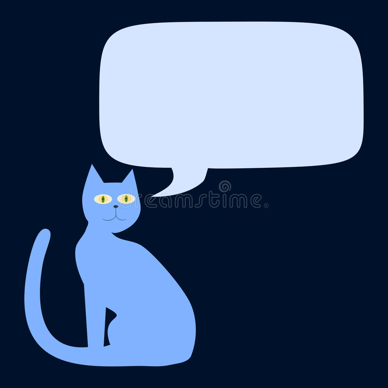 Download Blue Cat With Communication Bubble Stock Illustration - Illustration of infographic, poster: 42955026