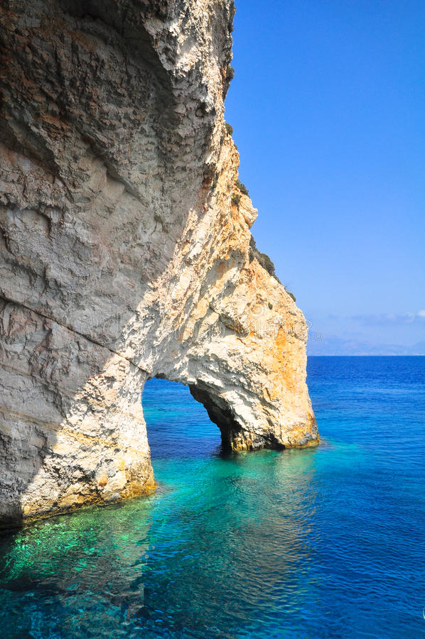 Blue caves royalty free stock photography