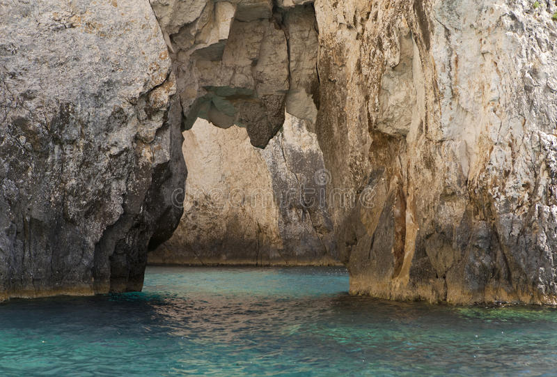 Blue caves royalty free stock photos