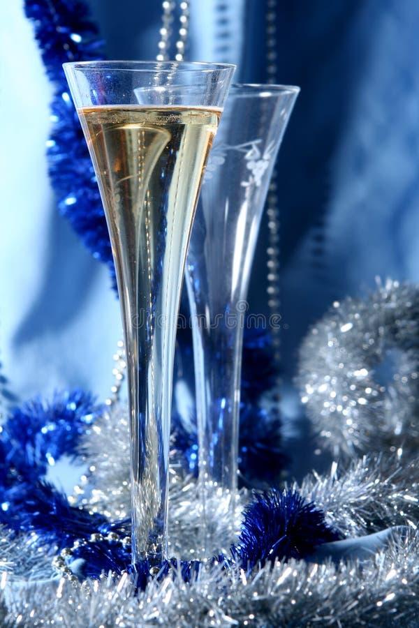 Blue celebration royalty free stock images