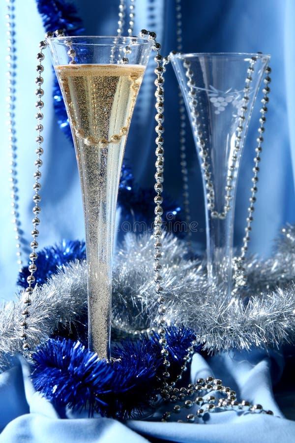 Blue celebration royalty free stock photography