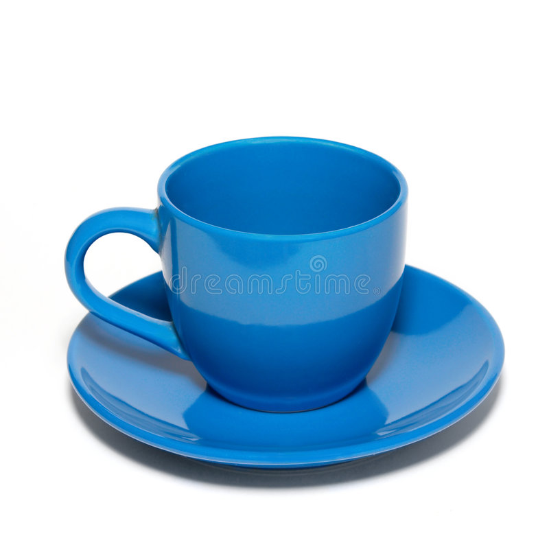 Download Blue Ceramic Cup And Saucer Stock Photo - Image: 7385620