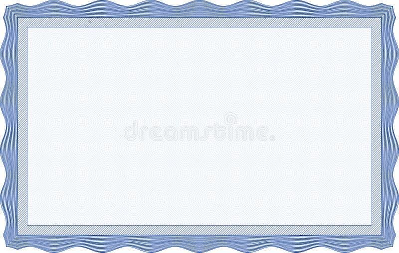 Blue Certificate Template Stock Photos