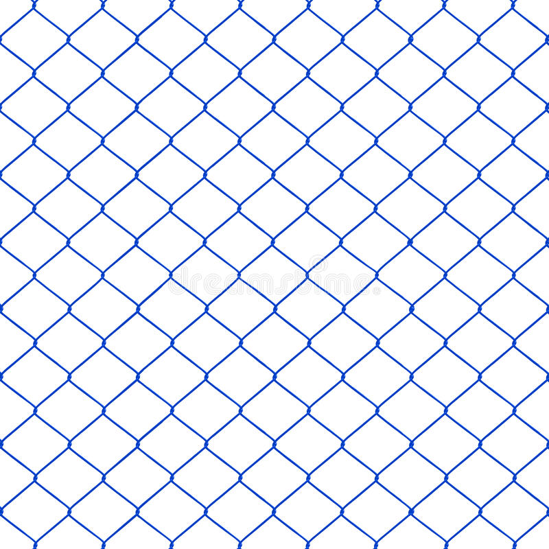 Blue chainlink fence. Seamless on a White background royalty free illustration