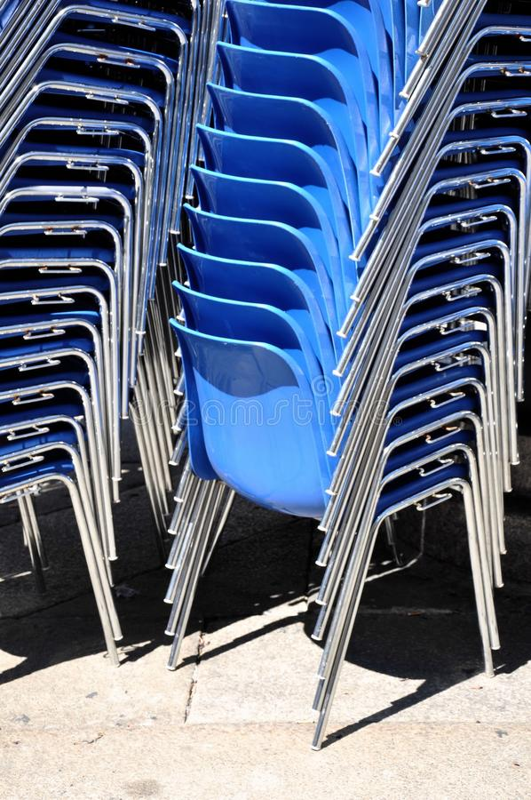 Blue Chairs Royalty Free Stock Images