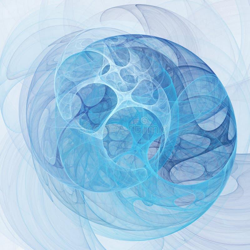 Blue chaos stock illustration