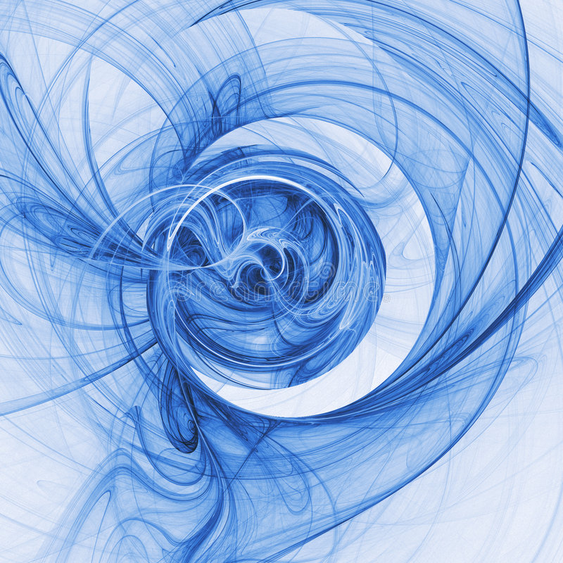 Blue chaos. Abstract chaos blue rays technology on white background royalty free illustration